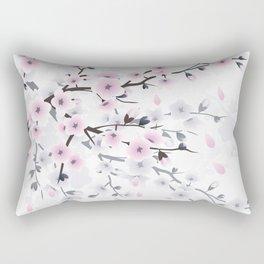 Pastel Cherry Blossom Rectangular Pillow