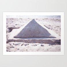 Sandy Triangle  Art Print