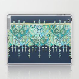Art Deco Double Drop in Blues and Greens Laptop & iPad Skin