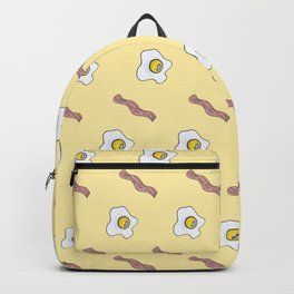 Eggs and Bacon Breakfast Foodie Funny Pattern Backpack