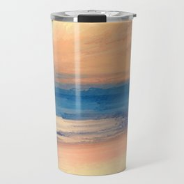 Approaching Sunset Abstract Seascape Travel Mug
