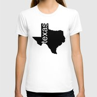 texas T-shirts featuring Texas by Isabel Moreno-Garcia