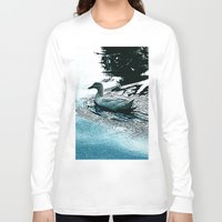 swim Long Sleeve T-shirts featuring Swim by MaximusMax76