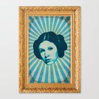leia Canvas Prints featuring Leia by Durro
