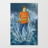 percy jackson Canvas Prints featuring Percy Jackson by Ghost Filament
