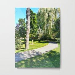 Walk in a Summer Park Metal Print