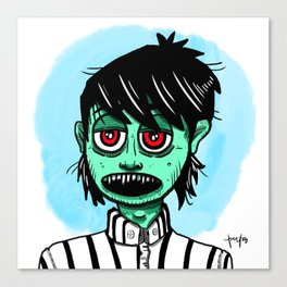 Zombie ready for job interview Canvas Print