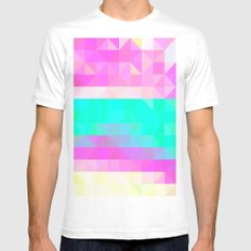 Pink Natures Mens Fitted Tee MEDIUM White