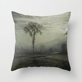 William Trost Richards - Moonlight on Mount Lafayette, New Hampshire Throw Pillow