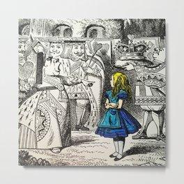 Blonde Girl Called Alice Metal Print