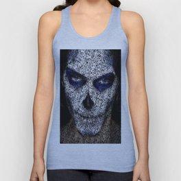 Skull In Black And White Unisex Tank Top