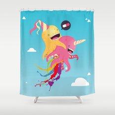 Poulpi et Licornet Shower Curtain
