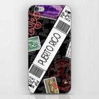 puerto rico iPhone & iPod Skins featuring Welcome to Puerto Rico by Barney Ortiz