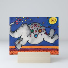 Felicity the happiest Elephant Mini Art Print