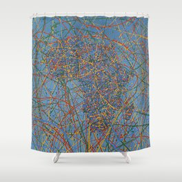 Africa : Abstract drip painting in color Shower Curtain