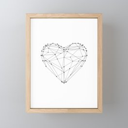 Love Heart Geometric Polygon Drawing Vector Illustration Valentines Day Gift for Girlfriend Framed Mini Art Print