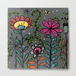 Weird and wonderful (Garden) - fun floral design, nature, flowers Metal Print
