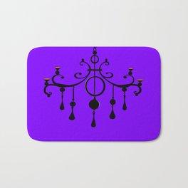 A Chandler with a Purple Background Bath Mat