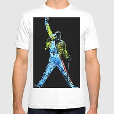 Freddie A Kind of Magic White MEDIUM Mens Fitted Tee
