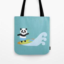Surf Panda Tote Bag