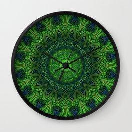 Green and Serene Wall Clock