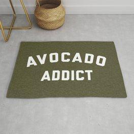 Avocado Addict Funny Quote Rug