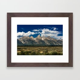The Grand Tetons - Summer Mountains Framed Art Print
