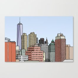 Downtown New York Skyline Canvas Print