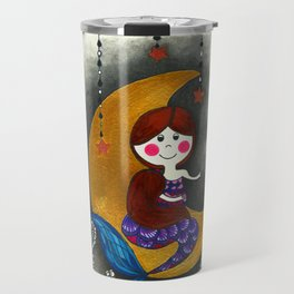 Mermaid in the moon Travel Mug