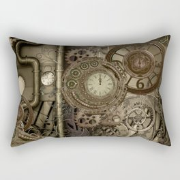 Steampunk, clocks and gears Rectangular Pillow
