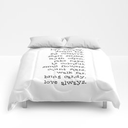 Live simply Comforters