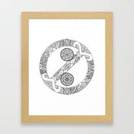 """""""No Colon"""" Symbol Framed Art Print"""