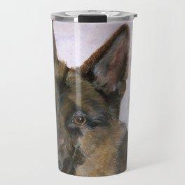 Portrait of a German Shepherd Travel Mug