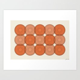 Red & Orange Circles Art Print