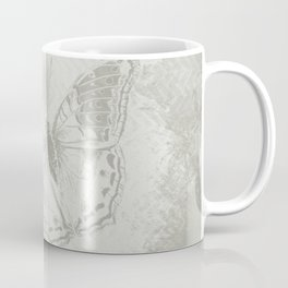 delicate butterflies and textured chevron pattern Coffee Mug