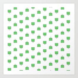 Green Birkin Vibes High Fashion Purse Illustration Art Print