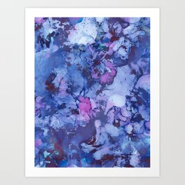 Abstract Alcohol Ink Painting 3 Art Print