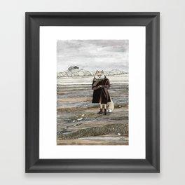 Fox in Sand Dunes Framed Art Print