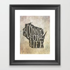 Sconnie for Life Framed Art Print