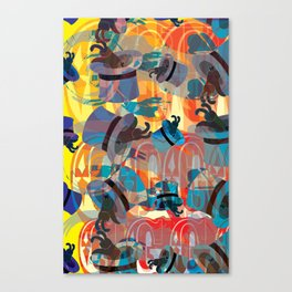 Dada Bunnies Canvas Print