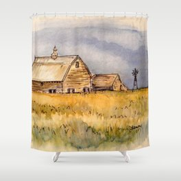 Barns and Windmill Shower Curtain
