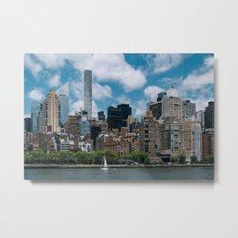 Living in Manhattan Metal Print