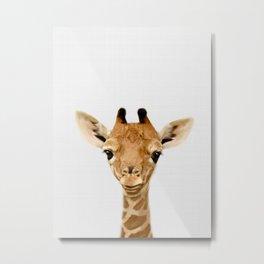 Giraffe Print, Safari Nursery Animal Wall Art Metal Print