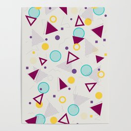 TRIANGLE MESS PATTERN Poster