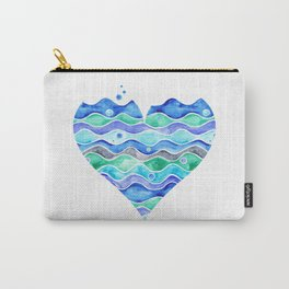 A Sea of Love (white) Carry-All Pouch