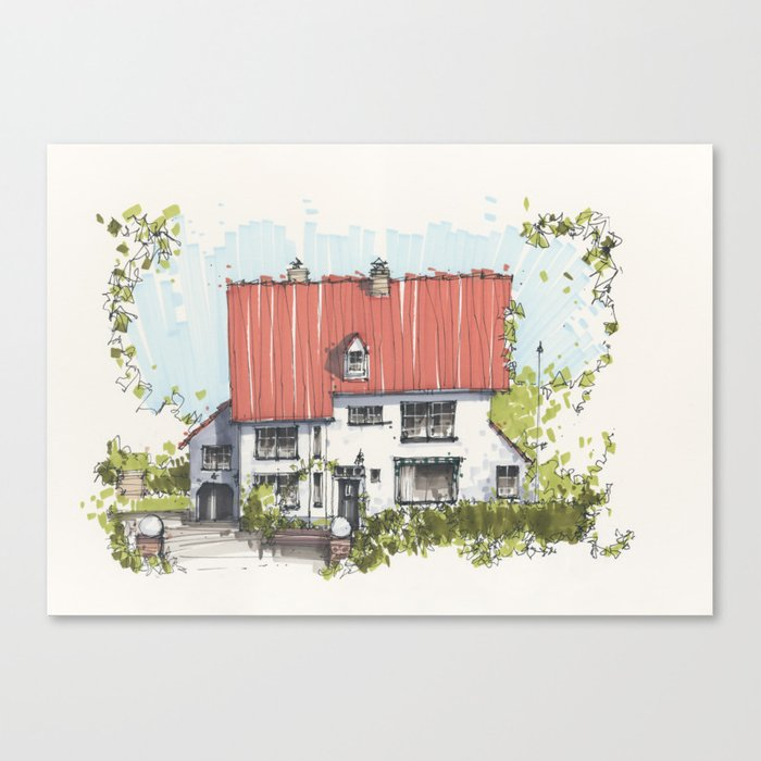 Residential Summer House Canvas Print