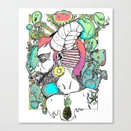 Sea Ram Colored Canvas Print