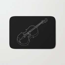 Violin in lines Bath Mat