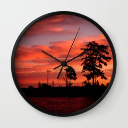 Island Sunrise Wall Clock