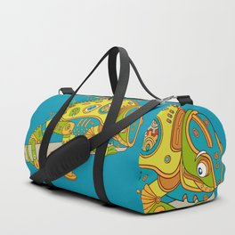 Chameleon, cool wall art for kids and adults alike Duffle Bag